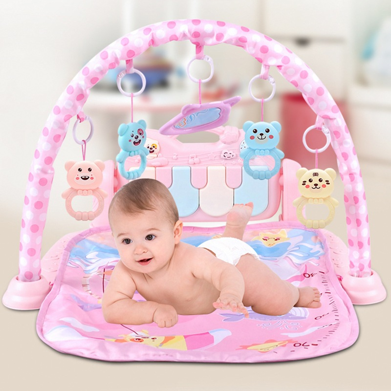 Infants Fitness Rack Music ENLIGHTEN Game Blanket Multi-functional Harmonium Baby Rattle Early Education Remote Control Toy