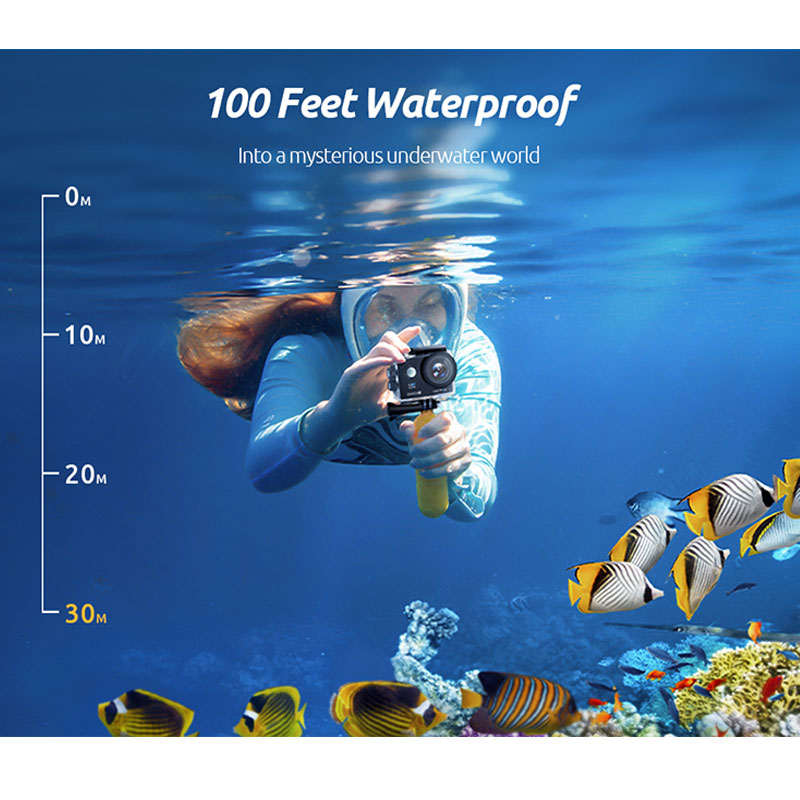 VanTop Moment 4U 4K Action Camera 20MP  Underwater Waterproof Camera with Wifi Touch Screen Wireless Remote 170° Wide Angle Cam-2