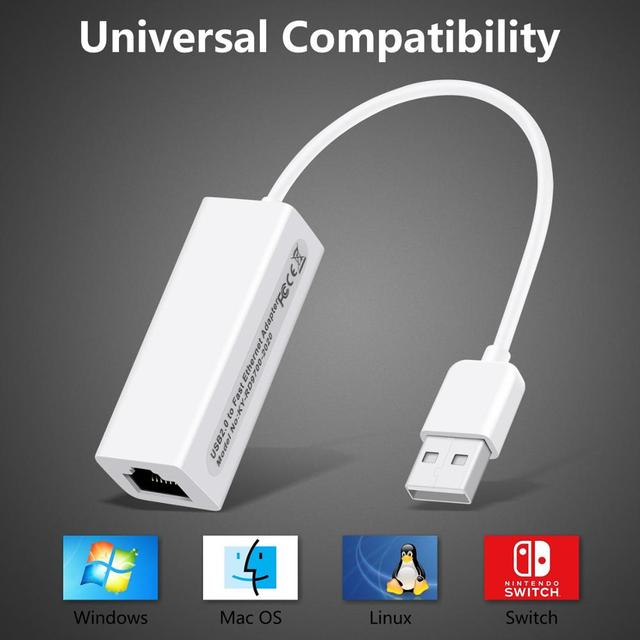External USB Wired Ethernet Network Card Adapter USB to Ethernet RJ45 Lan for Windows 7/8/10/XP RD9700 For Win XP/7/8/10 1