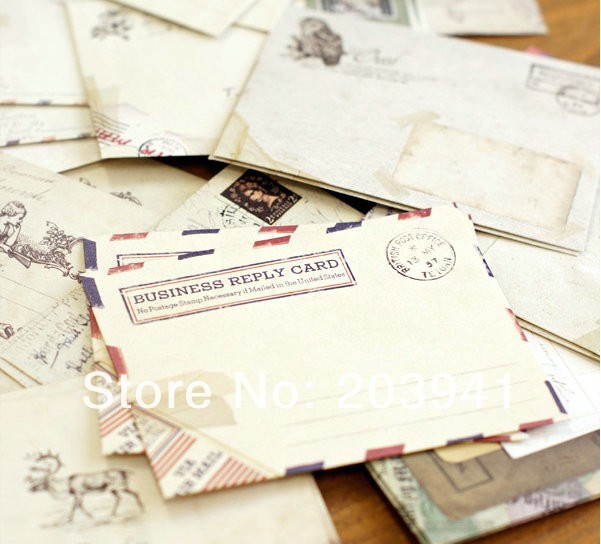 120pcs/lot 100*80mm European Style Classic Vintage Mini Envelopes Invitation Place Greeting Card