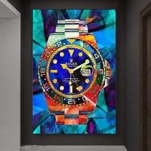 Скандинавские яркие часы hd скандинавский абстрактный холст