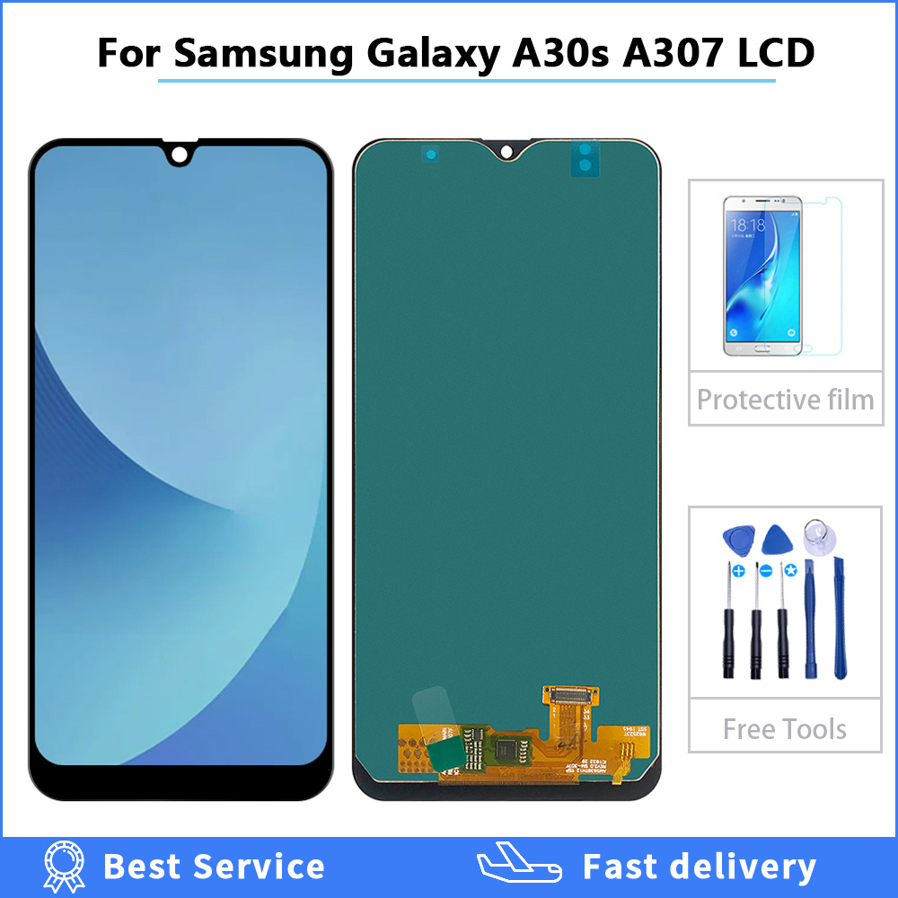 6.4'' LCD <font><b>Display</b></font> For <font><b>Samsung</b></font> galaxy A30s A307 SM-A307FN <font><b>Display</b></font> Touch <font><b>Screen</b></font> Digitizer Assembly For <font><b>Samsung</b></font> A30S A305FN LCD image