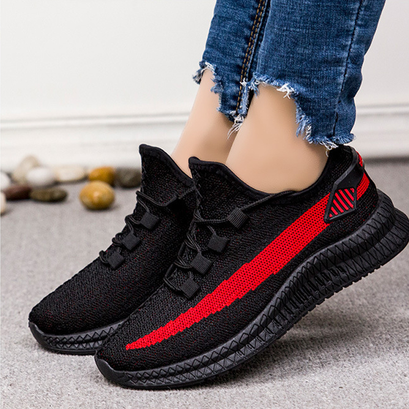 Fashion Sneakers Women Shoes New Lace Up Running Shoe Female 2020 Spring Casual Mesh Sneaker Ladies Soft Sports Flat Shoes Woman