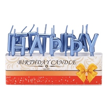 Colorful Happy Birthday Letter Cake Candles Party Festival Supplies Lovely Decoration