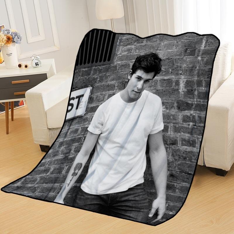 Custom Shawn Mendes Coperte per letti di tiro coperta coperta morbida coperta estate anime coperta da viaggio coperta
