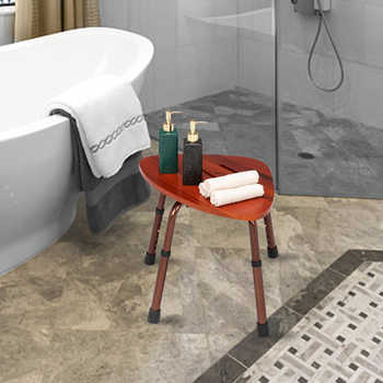 6-Hole Adjustable Wooden Bath Chair Natural Wood Color Medical Bath Tub Shower Chair Bench Stool Seat Older Pregnancy Furniture - DISCOUNT ITEM  20 OFF Furniture