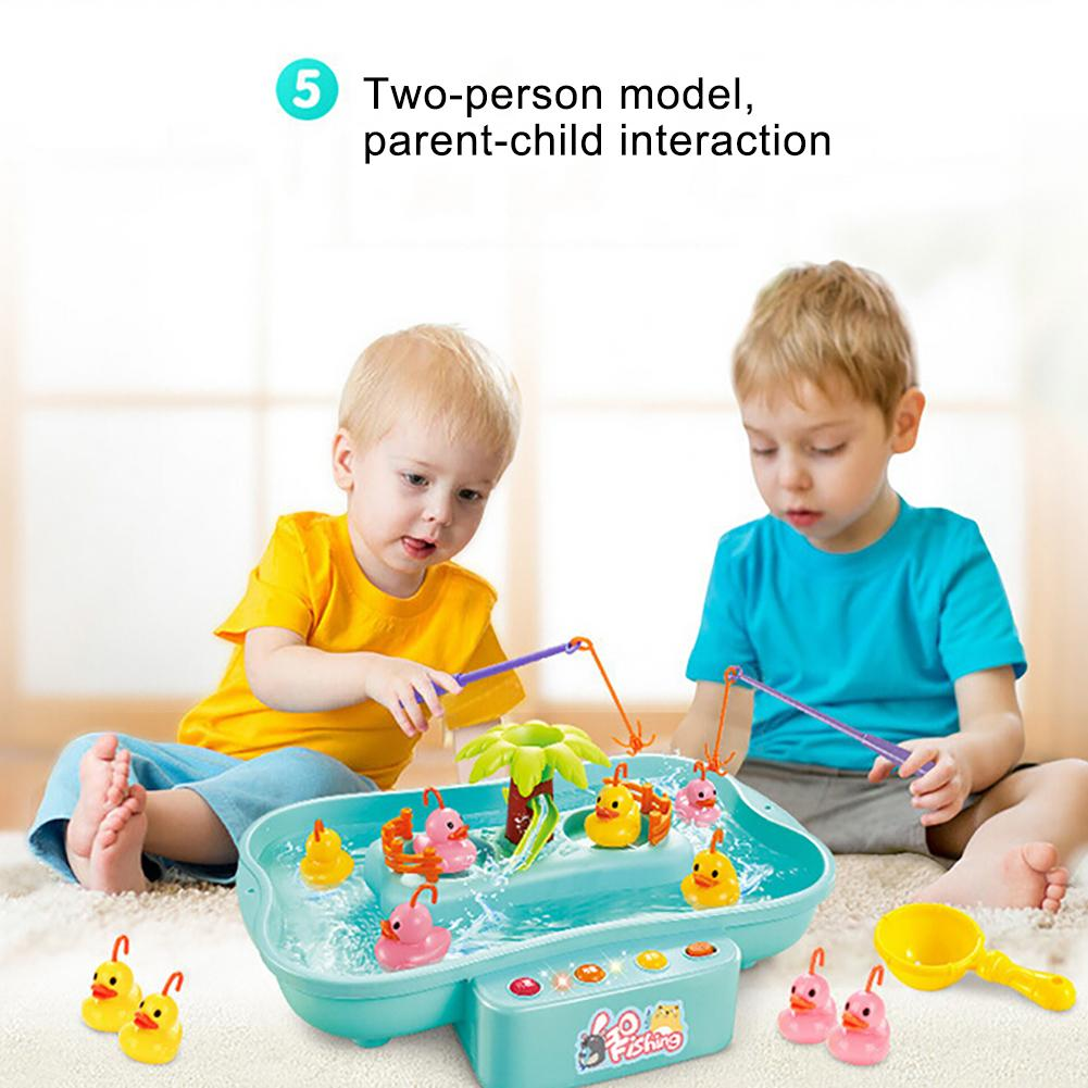 Kid Electric Music Rotary Water Fishing Poor Parent-Child Interaction Puzzle Toy