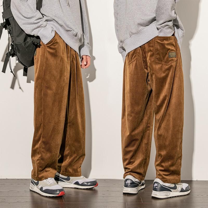 New 2020 Autumn Pants Men Sweatpants Joggers Elasticity Streetwear Men Corduroy Pants Mens Sweatpants Joggers Loose