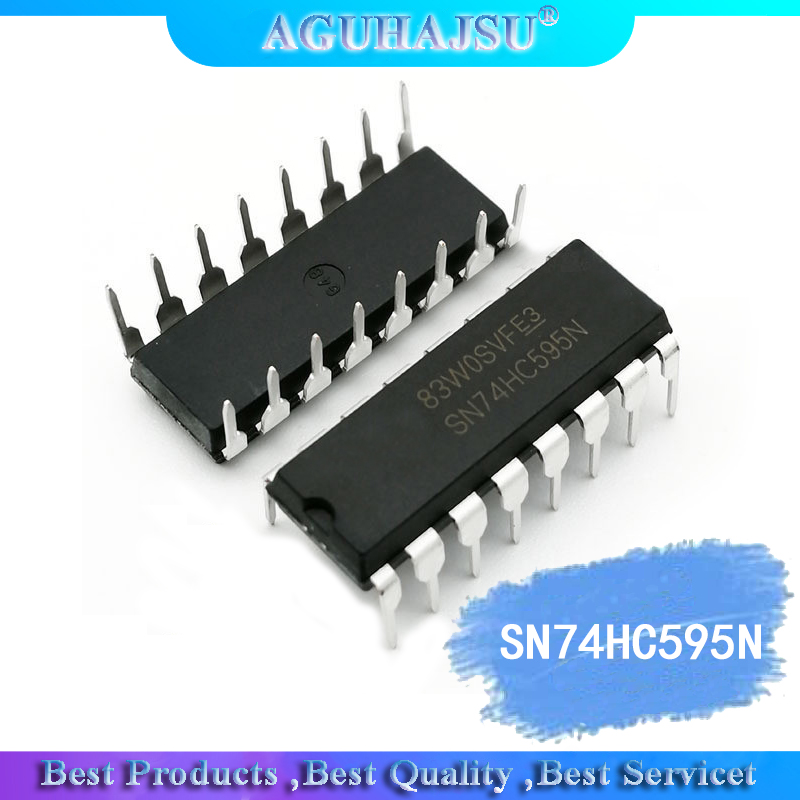 10PCS SN74HC595N SN74HC595 74HC595N 74HC595 DIP-16 Counter Shift Registers Tri-State 8-Bit New Original