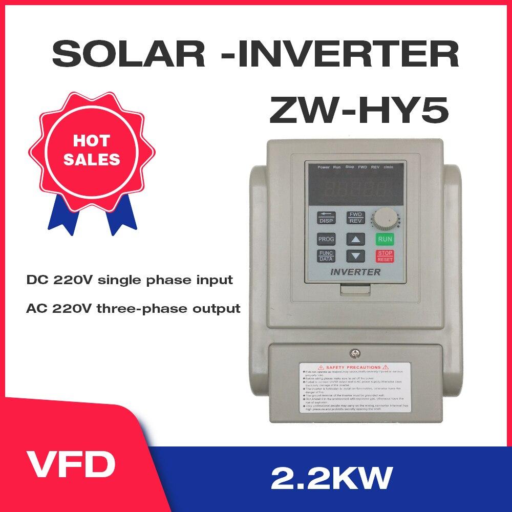 2. 2kw/3hp vfd inversor solar 3-fases de saída 220v controle de velocidade do motorista da bomba de água XSY-HY