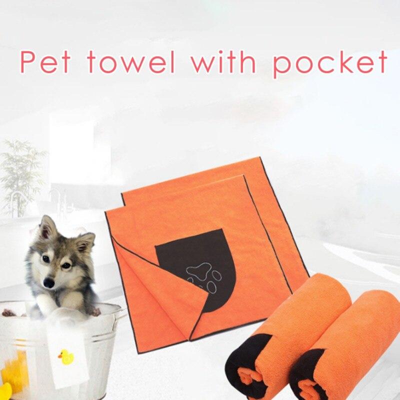 50x100cm Pet Dog Towel Super Absorbent Dog Bathrobe Microfiber Bath Towel Quick-Drying Cat Bath Towel Pet Health Care