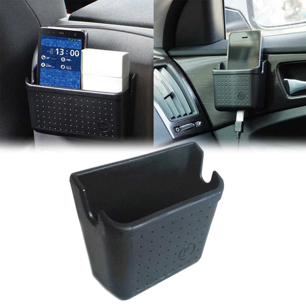 Mobil Tas Penyimpanan Auto Interior Case Cell Phone Charger Pemegang Aksesoris