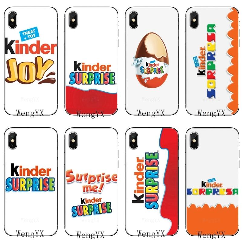 Phone Case For Sony Xperia Z5 C6 L2 XA1 XA2 XZ1 XZ2 Compact Premium LG G5 G6 G7 Q6 Q7 Q8 Q9 V30 V20 V10 KINDER JOY Surprise