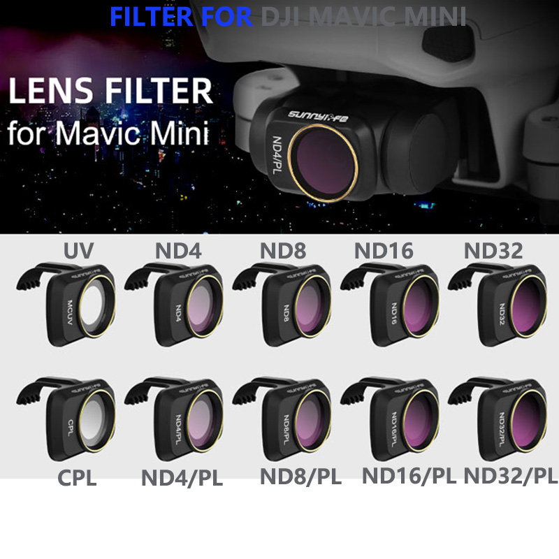 3Pcs 6Pcs Multi-Coated Drone Camera Lens Filter Accessorys for DJI AIR MCUV+CPL+ND4+ND8+ND16+ND32 4Pcs