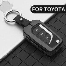 Чехол для автомобильного ключа для Toyota Corolla Reiz Avensis Verso Yaris Rav4 Prius Camry Prado Crown Hilux Fortuner Alphard Land Cruiser