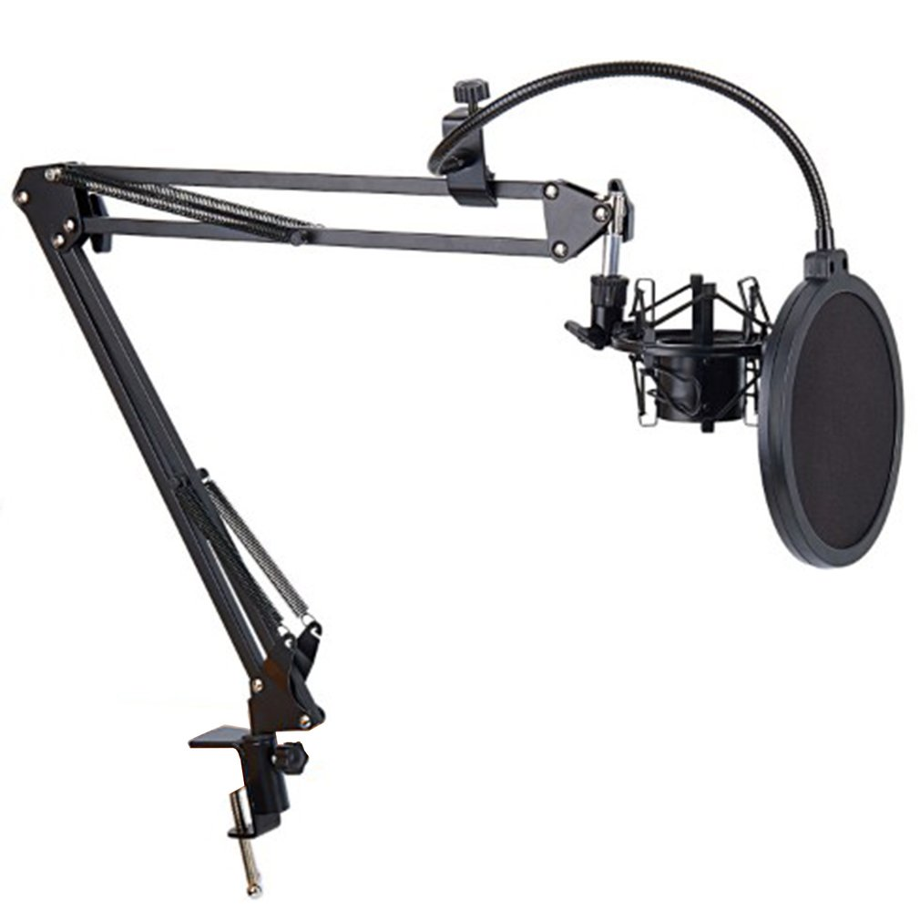 Pro Desktop Microphone Suspension Scissor Arm Microphone Stand Table Mounting Clamp for Samson <font><b>Blue</b></font> Yeti <font><b>Snowball</b></font> image
