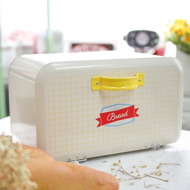 Français Vintage boîte à pain bac de stockage poudre enduit pain fer Snack boîtes pour cuisine décor à la maison