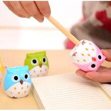 3pcs Promotional Pencil Sharpener Student Creative Cute Owl Double Hole Pencil Sharpener