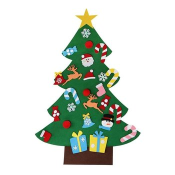 Christmas Decoration Childrens Handmade Diy Tree Felt Cloth Material Small Ornaments Colorful
