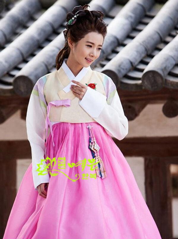 Hanbok Dress Custom Made Korean Traditional Woman Hanbok Korean National Costume  Womens Tops And Blouses Women Cosplay