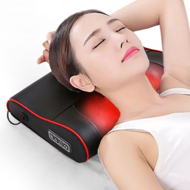 Neck Healthy Massageador Relaxation Shiatsu Electric Back Massager Neck Shoulder Massager Pillow Infrared Heating Electric