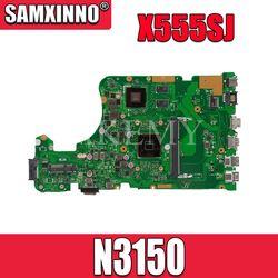 X555SJ dla For Asus x555sj laptopa płyta główna Celeron N3150 cpu 100% tetsted