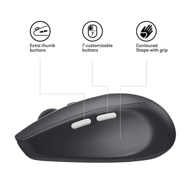 Logitech M590 Mute Wireless Bluetooth Mouse Optical Silent Mouse 1000 DPI 7 Buttons Office Mouse for PC Computer