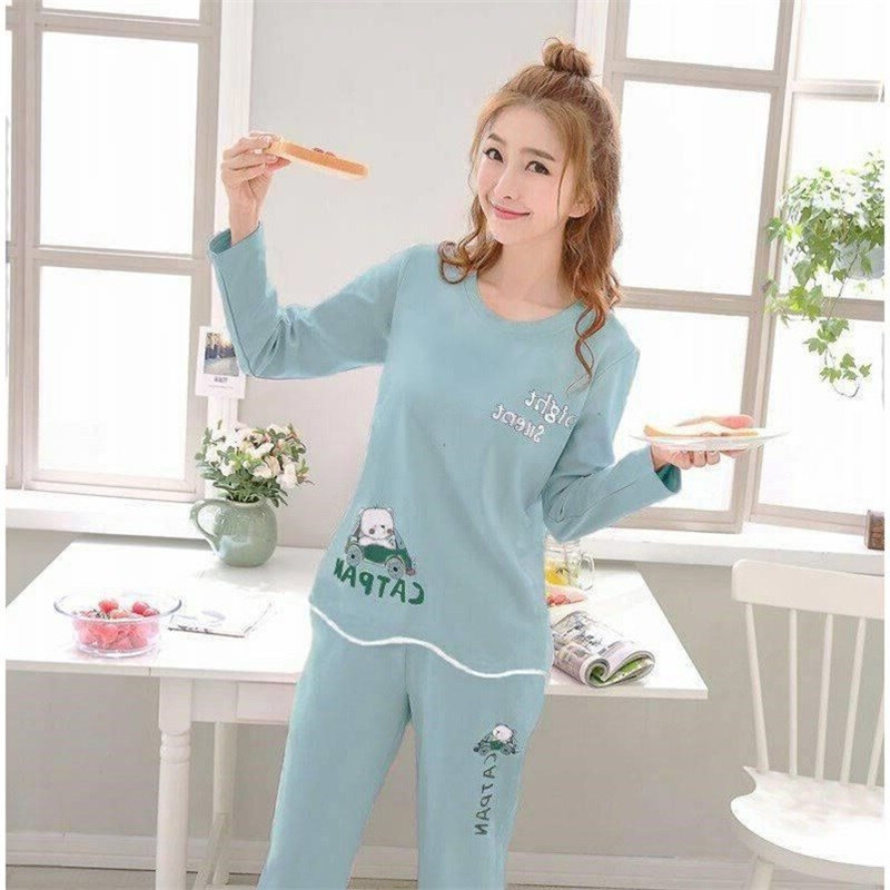 120G Car Bear Spring And Autumn Women Pajamas Students Qmilch Sweet Casual Fashion Set Long Sleeve Tracksuit