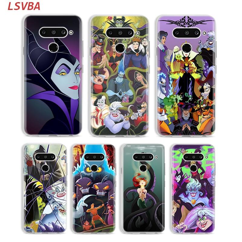 Cartoon Villains Cover for LG W20 W10 V50S V50 V40 V30 K50S K40S K30 K20 Q60 Q8 Q7 Q6 G8 G7 G6 ThinQ Phone Case