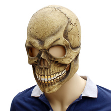 Halloween Latex Mask Zombie Horror Grimace Bone Skeleton Head Cosplay Decoration Masquerade Funny Tools