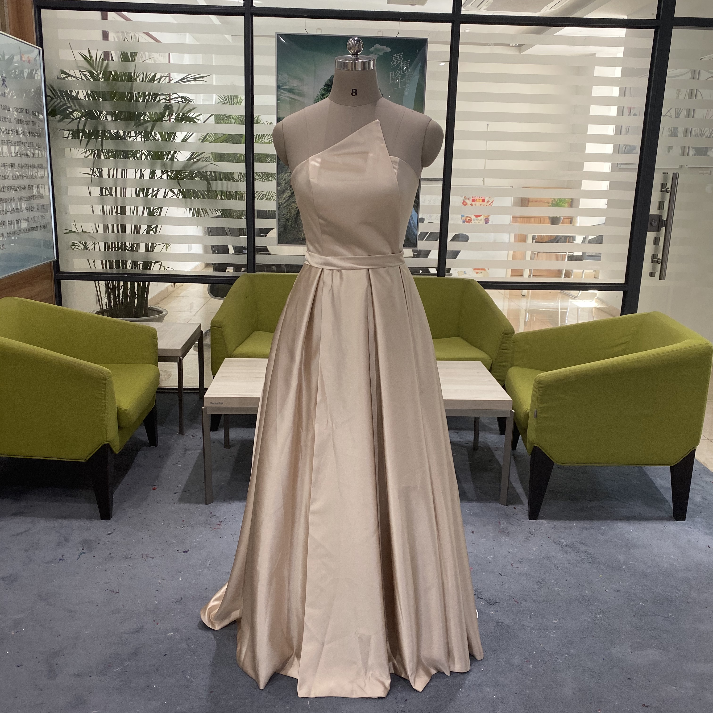 A-line Bridesmaid Dresses Long African Women 2020 Sleeveless Long Maid Of Honor Dress Sexy High Split Dress For Wedding Party