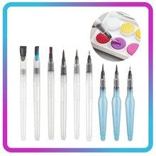 Jeu de stylos à aquarelle avec stockage d'eau, outil de peinture pour peintre Montessori, 9 pièces