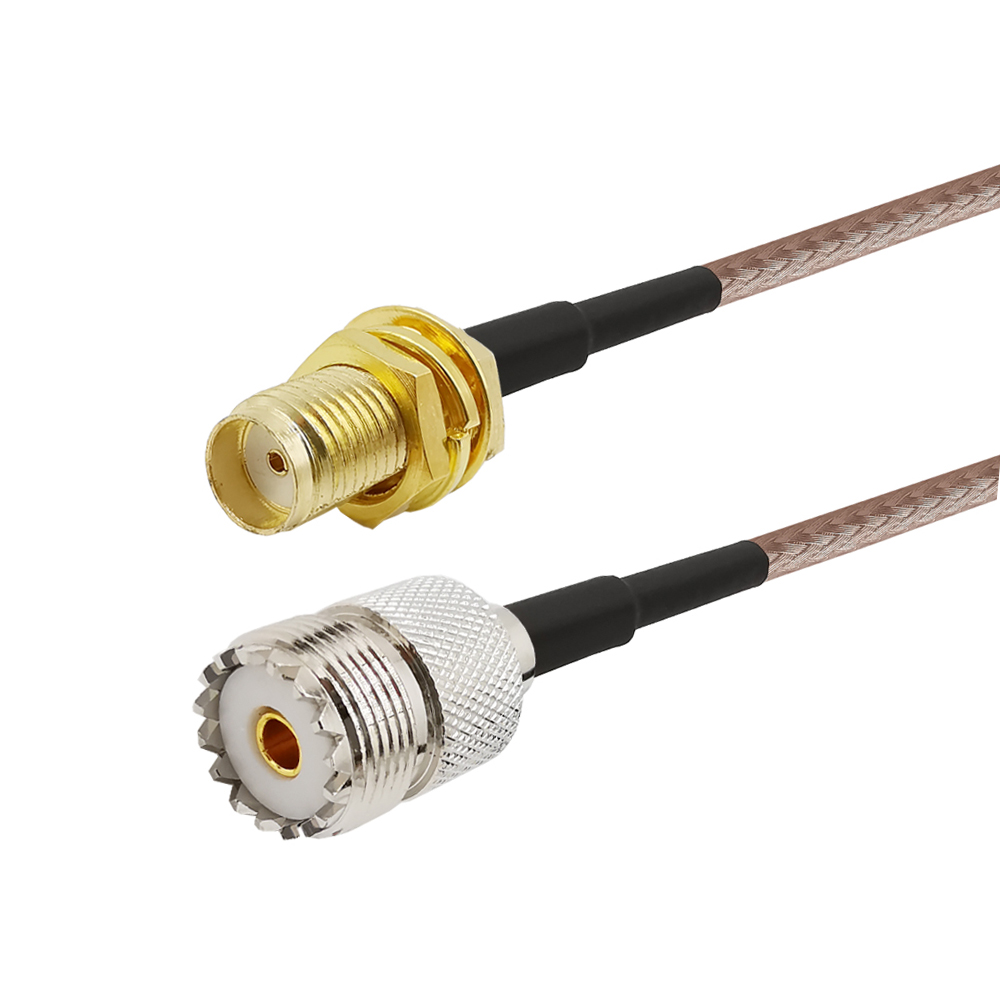1 15M Adapter for UHF Base and Mobile Antenna SMA Female to UHF SO 239 Female RG316 Cable for Baofeng CB Radio Handheld Radio Connectors     - title=