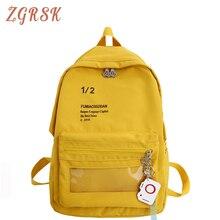 Women Nylon Backpack Bagpack Teenagers Girls Fashion School Bag Ladies Cute Back Pack Print Letter Student Backpacks