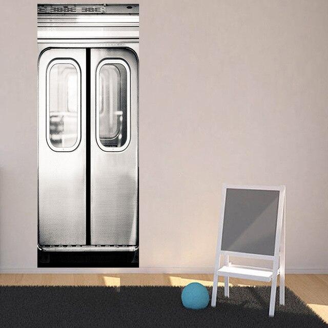 Autocollant Mural auto-adhésif pour métro | autocollant porte, auto-adhésif, imperméable, amovible