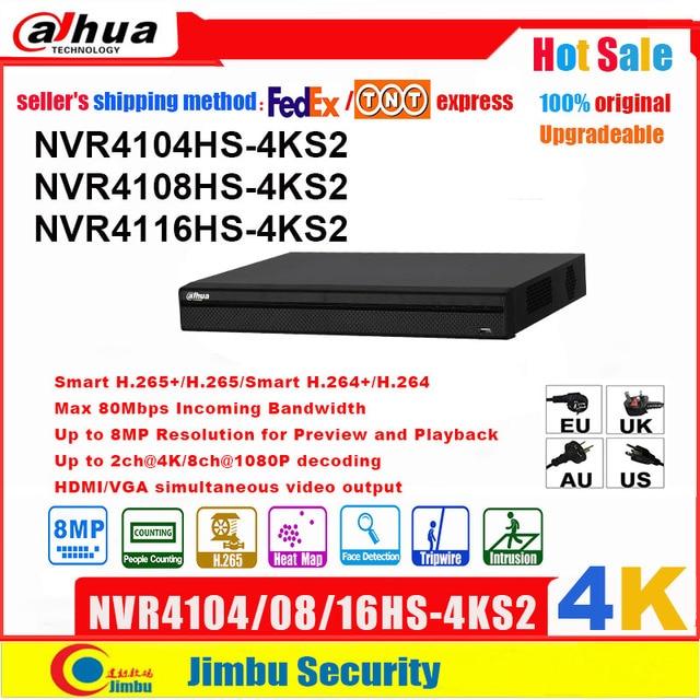 Сетевой видеорегистратор Dahua NVR Сетевой Видео Регистраторы 4K NVR4104HS 4KS2 NVR4108HS 4KS2 NVR4116HS 4KS2 4CH 8CH 16CH 4K H.265 / H.264 мульти языковой