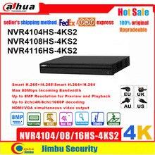 Dahua NVR ağ Video kaydedici 4K NVR4104HS 4KS2 NVR4108HS 4KS2 NVR4116HS 4KS2 4CH 8CH 16CH 4K H.265 / H.264 çok dil