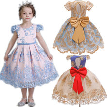 Summer Toddler Girl Dresses For Little Girl School Wear Children Wedding And Holiday Clothing Kids Party Dresses For Girl 8 10T(China)
