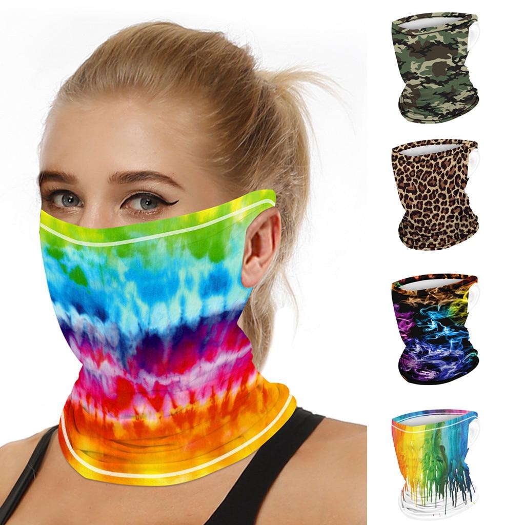 Stylish Printed Dustproof Scarf Mask 1