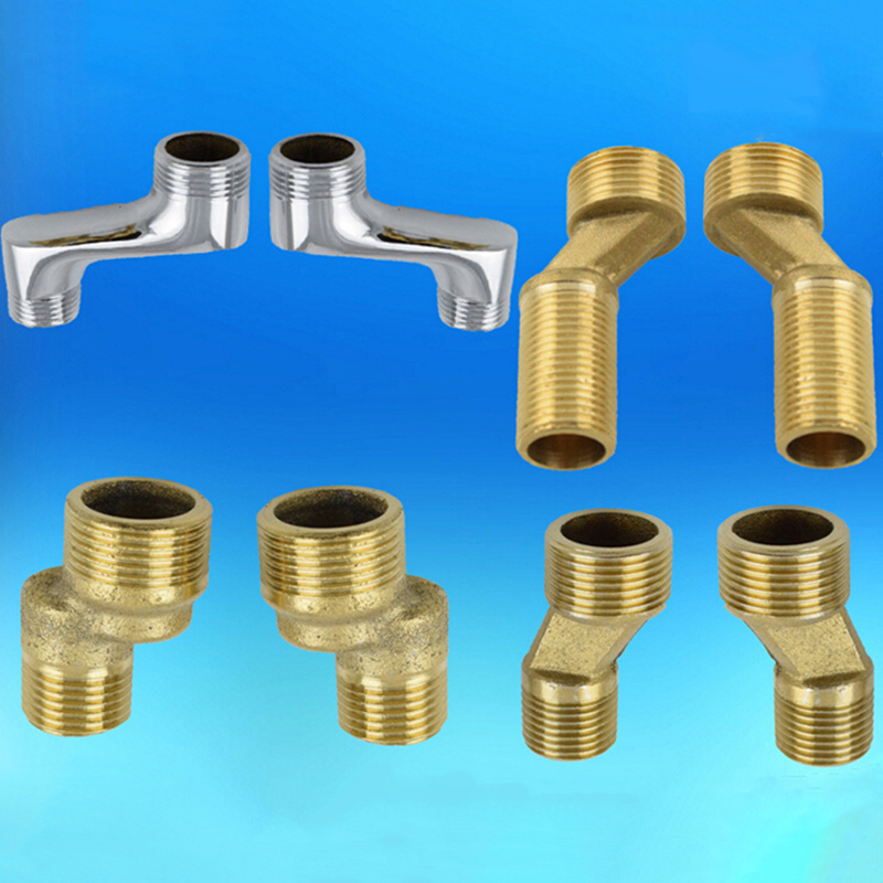 Copper Bathroom Shower Bathtub Faucet Mixing Valve Faucet Distance Increased Eccentric Angled Change Curved Foot Bend Fittings