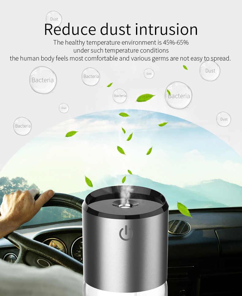 Humidificateur d'air de voiture double chargeur USB 12-24V diffuseur de voiture huile essentielle purificateur d'air de voiture évent Clip réglage de la Direction 5