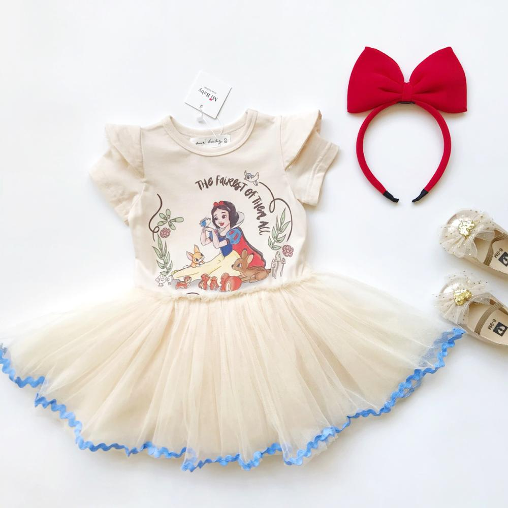 Baby Girls Costume Dress Snowwhite Girls Baby Dress For Girl 1st Birthday Party Princess Dress Cotton Toddler Baby Girls Clothes