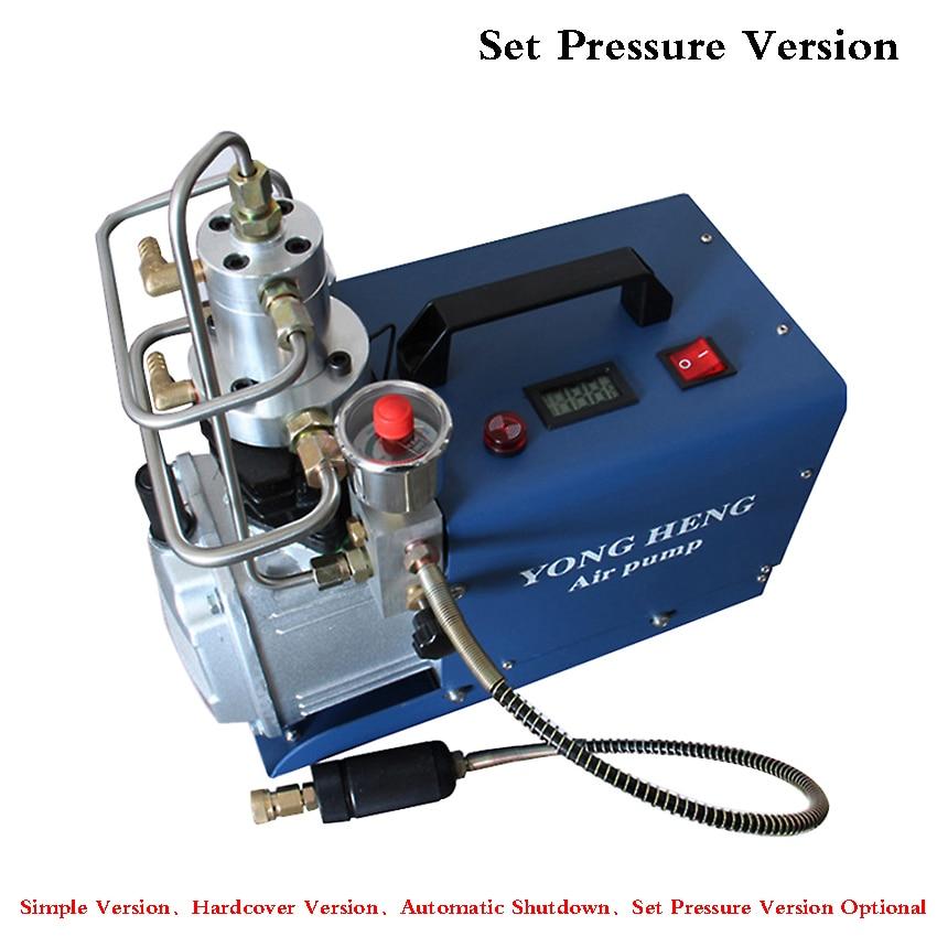 High Pressure Air Pump 30MPA 1.8KW Electric Air Compressor For Pneumatic Airgun Scuba Rifle PCP Inflator 220v/110v  40L/50L/MIN