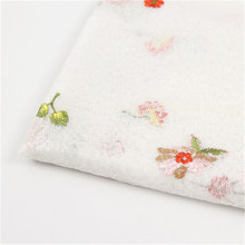 Small flower three-dimensional embroidery fabric womens fashion dress clothing polyester mesh accessories