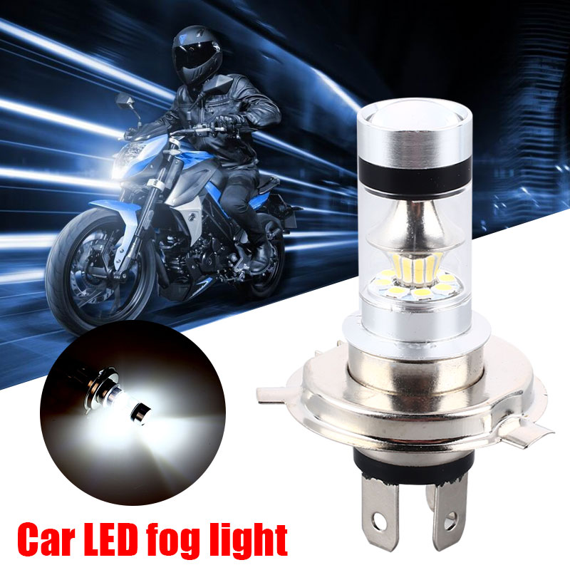 Vehemo H4 P15D 100W Fog Lamp Modified Headlight Car Motorcycle Driving Light Auto LED Fog Light Motorbike High Power