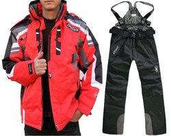 Conjunto de chaqueta de esquí y pantalón de Invierno para mujer de Spider Thicken, resistente al viento y al agua, traje de esquí en nieve