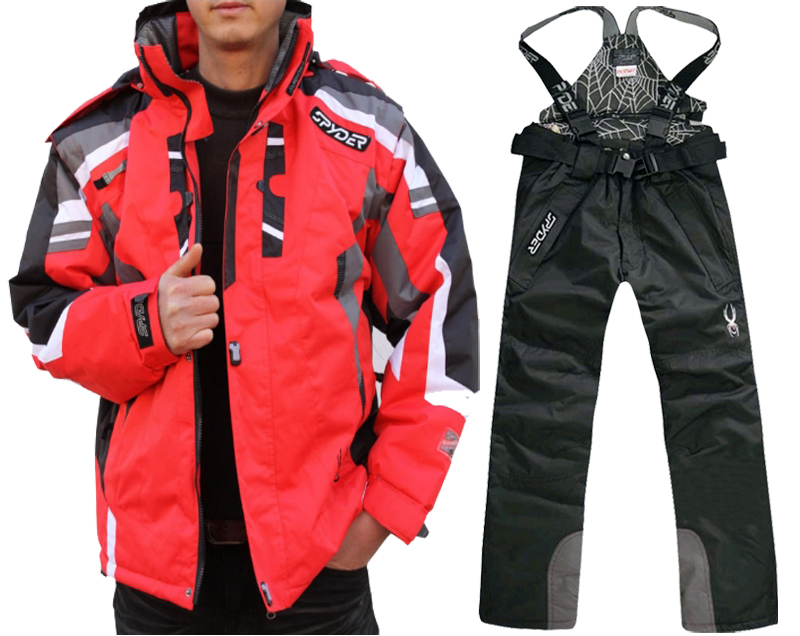 Spider Thicken Warm Windproof Winter Women Snowboard Set Ski Jacket And Pant Suits Female Ski Wear Waterproof Snow Skiing Suit