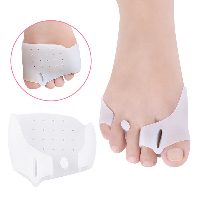 New High Quality Toe Separator Stretcher Correct Overlapping Feet 2pcs /1 Pair Silicone Orthotics Toe Separators Toe Align Gel