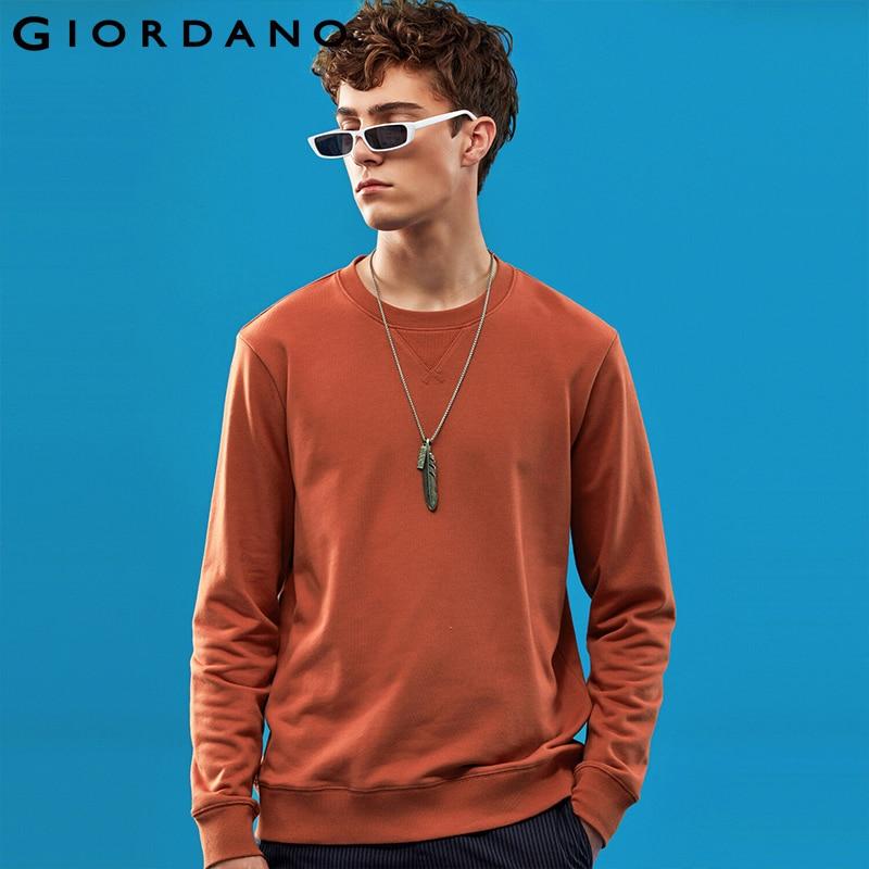 Giordano Men Sweatshirt Solid Pullover Sweatshirt Men Long Sleeve Fashion Terry Mens Clothes Sudadera Hombre Moleton Masculino 1