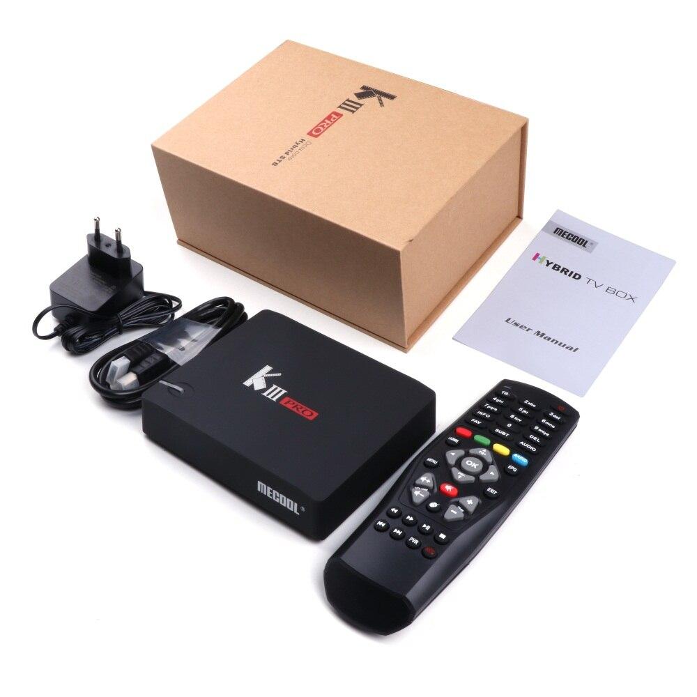 MECOOL KI Pro KII KIII Pro DVB T2 + S2 Android TV Box 3G 16G Amlogic S912 DDR4 Octa Core 4K décodage 2.4G + 5G décodeur lecteur multimédia - 6